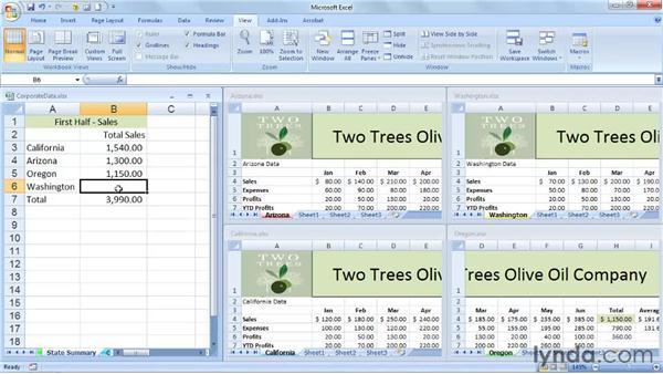 Creating formulas that link worksheets in different workbooks: Excel 2007: Managing Multiple Worksheets and Workbooks