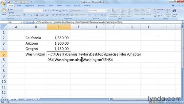 Locating and managing links between multiple workbooks: Excel 2007: Managing Multiple Worksheets and Workbooks