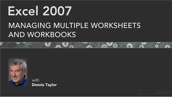 Goodbye: Excel 2007: Managing Multiple Worksheets and Workbooks