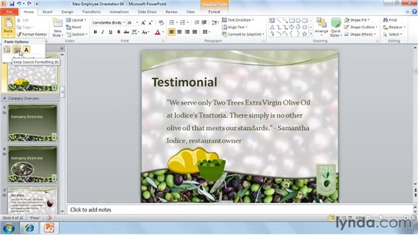 Paste preview: PowerPoint 2010 New Features