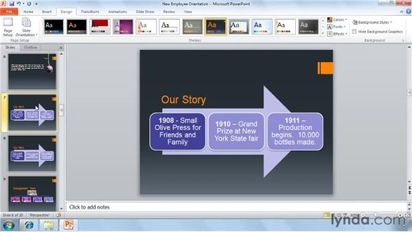 New presentation themes: PowerPoint 2010 New Features