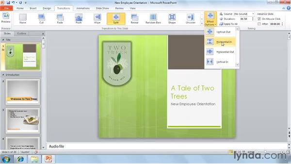 New slide transitions: PowerPoint 2010 New Features
