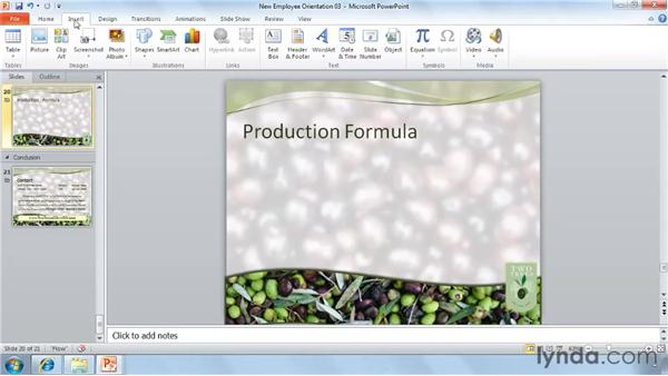 Adding mathematical equations: PowerPoint 2010 New Features