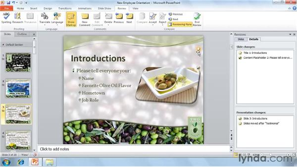 Merging and comparing presentations: PowerPoint 2010 New Features