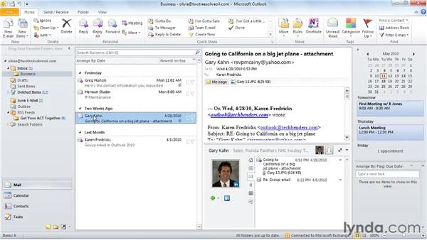 Connecting to social networks: Outlook 2010 New Features