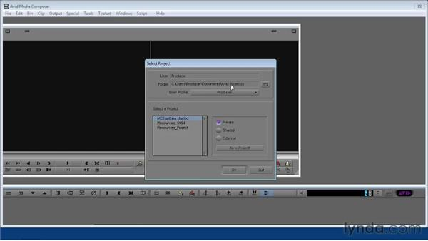 Starting Media Composer and creating a new project: Avid Media Composer 5 Getting Started
