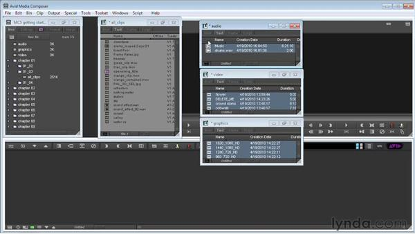 Working with clips, bins, folders, and the Project window: Avid Media Composer 5 Getting Started