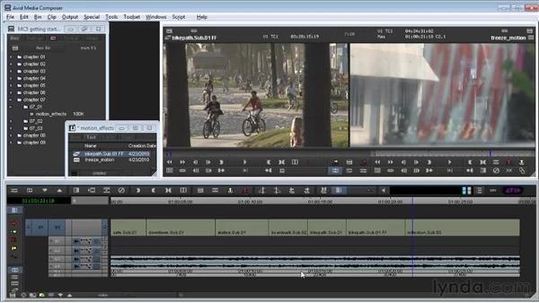 Creating freeze-frames and motion clips: Avid Media Composer 5 Getting Started