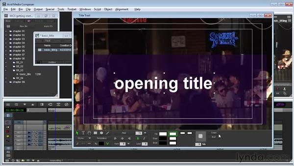 Creating a basic title: Avid Media Composer 5 Getting Started