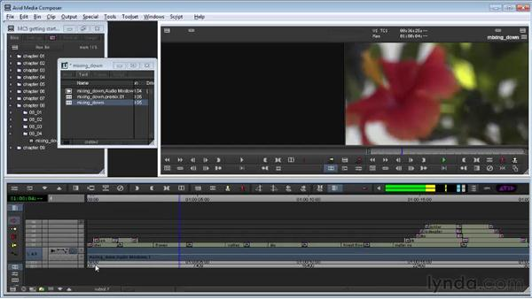 Mixing down video and audio: Avid Media Composer 5 Getting Started