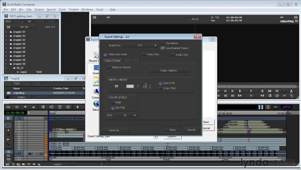Building the final output: Avid Media Composer 5 Getting Started