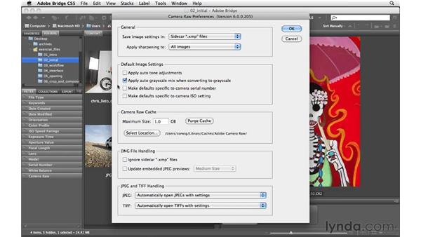 Camera Raw preferences : Photoshop CS5 for Photographers: Camera Raw 6