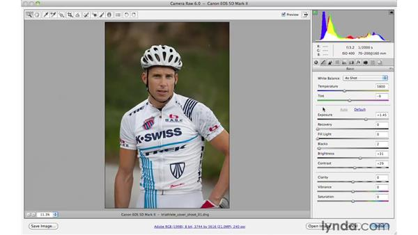 Auto-toning and correcting white balance: Photoshop CS5 for Photographers: Camera Raw 6