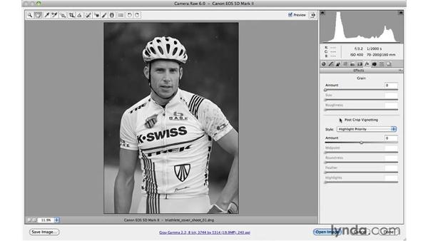 Adding a vignette: Photoshop CS5 for Photographers: Camera Raw 6