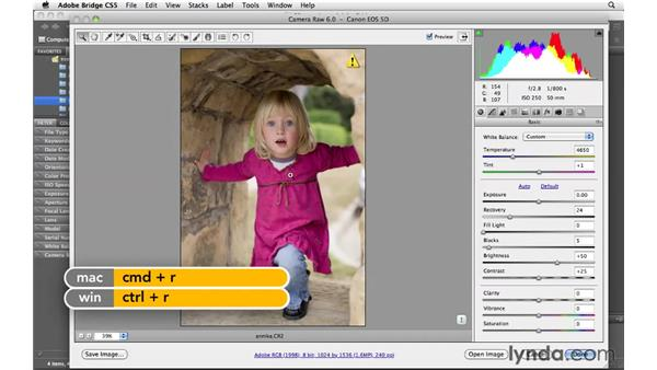 Opening raw files in Bridge: Photoshop CS5 for Photographers: Camera Raw 6