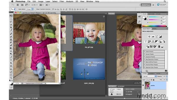 Opening an image as a Smart Object: Photoshop CS5 for Photographers: Camera Raw 6