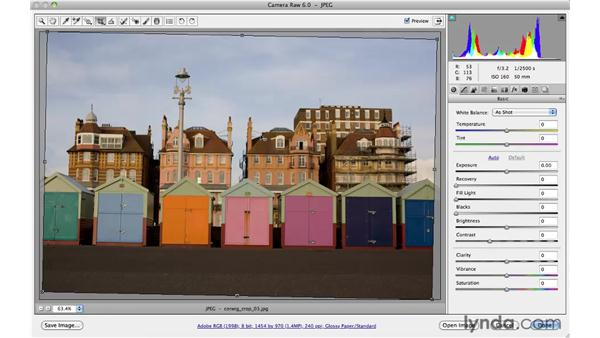 Using the Crop and Straighten tools: Photoshop CS5 for Photographers: Camera Raw 6
