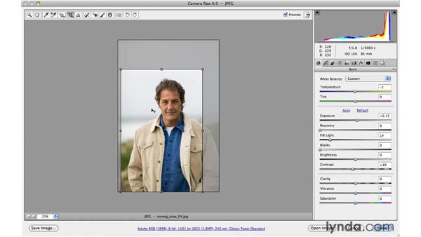Working with the Crop tool: Photoshop CS5 for Photographers: Camera Raw 6