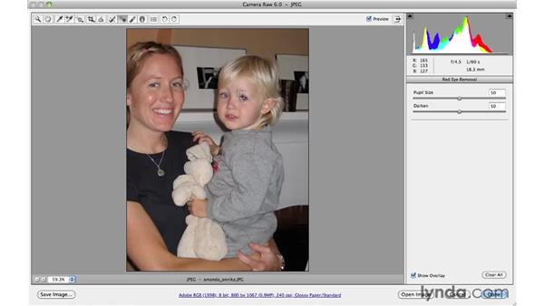 Removing red-eye: Photoshop CS5 for Photographers: Camera Raw 6