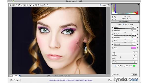 Adding color to makeup: Photoshop CS5 for Photographers: Camera Raw 6