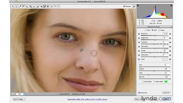 Eye sharpening and skin smoothing workflow: Photoshop CS5 for Photographers: Camera Raw 6
