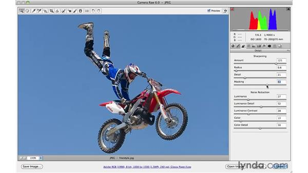 Sharpening more effectively : Photoshop CS5 for Photographers: Camera Raw 6