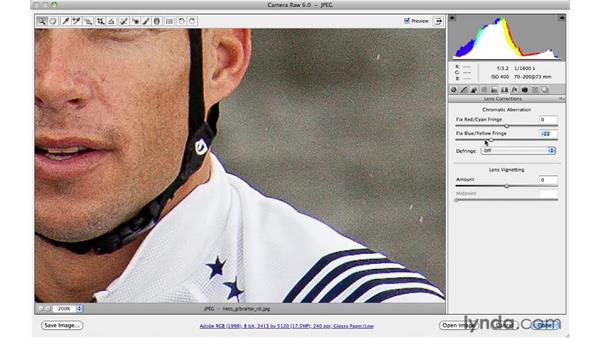 Correcting chromatic aberration and defringing: Photoshop CS5 for Photographers: Camera Raw 6