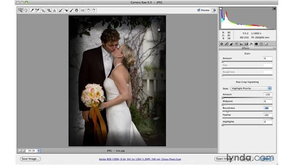 Using the Post Crop Vignette for creative effects: Photoshop CS5 for Photographers: Camera Raw 6