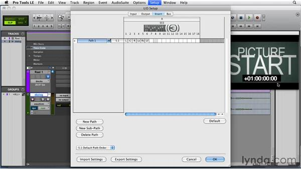 Setting insert paths: Film Scoring with Pro Tools