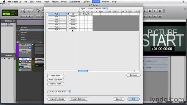 Setting bus paths: Film Scoring with Pro Tools