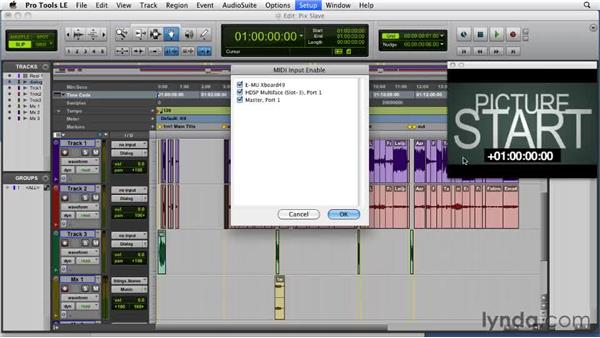 Slaving picture sessions: Film Scoring with Pro Tools