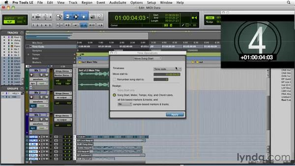 Importing data: Film Scoring with Pro Tools