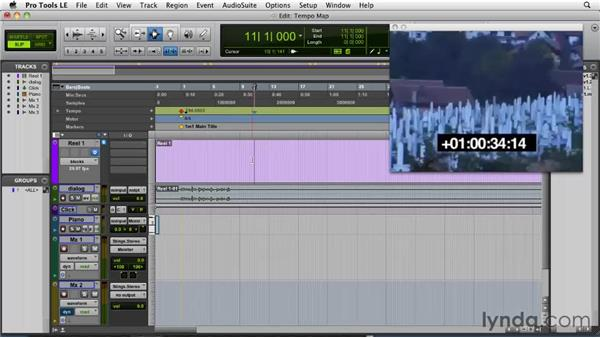 Tempo mapping to picture: Film Scoring with Pro Tools