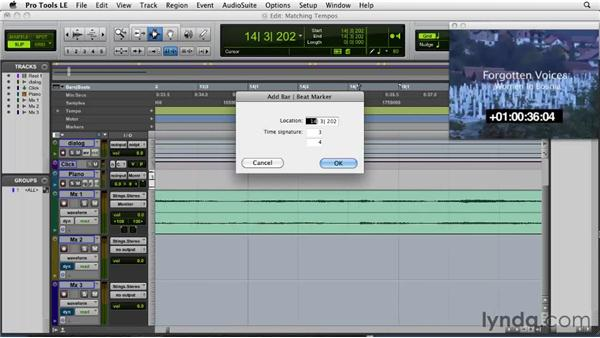 Matching existing tempos: Film Scoring with Pro Tools