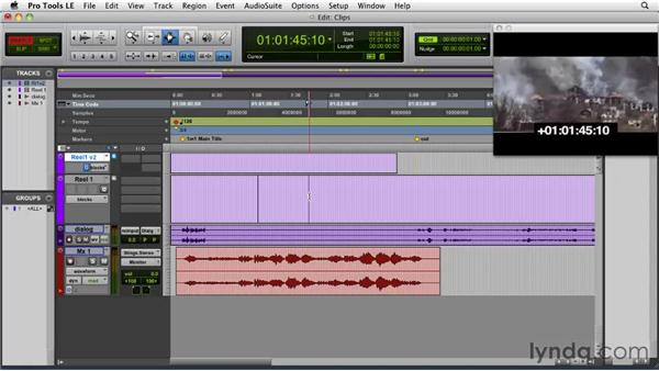 Using multiple clips: Film Scoring with Pro Tools