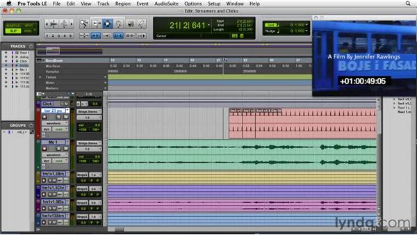 Creating streamers and clicks: Film Scoring with Pro Tools