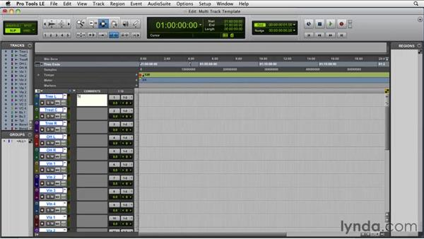 Creating a template: Film Scoring with Pro Tools