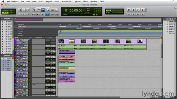 Building a setup for final recording: Film Scoring with Pro Tools