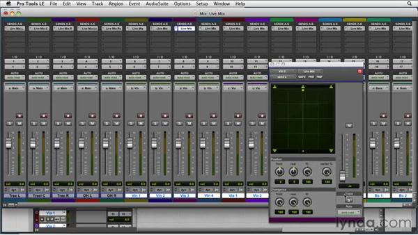 Creating a live mix: Film Scoring with Pro Tools
