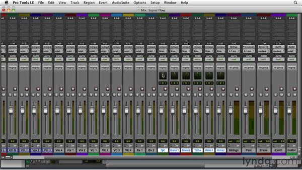 Setting signal flow: Film Scoring with Pro Tools