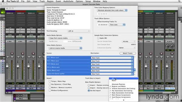 Working mix groups and a template: Film Scoring with Pro Tools