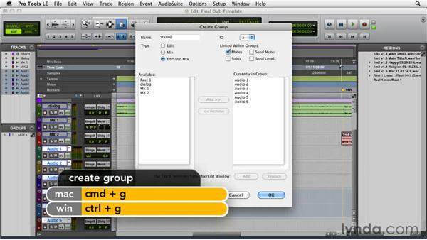 Creating a dubbing stage template: Film Scoring with Pro Tools