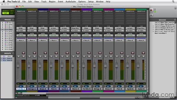 Assigning outputs for the dubbing stage: Film Scoring with Pro Tools