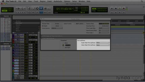 Using pull up/pull down: Film Scoring with Pro Tools