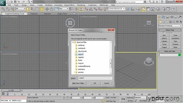 Using project folders: 3ds Max 2011 Essential Training