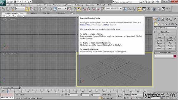 Getting familiar with the interface: 3ds Max 2011 Essential Training