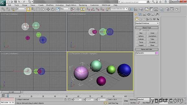Creating primitives: 3ds Max 2011 Essential Training