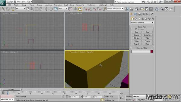 Navigating the viewports: 3ds Max 2011 Essential Training