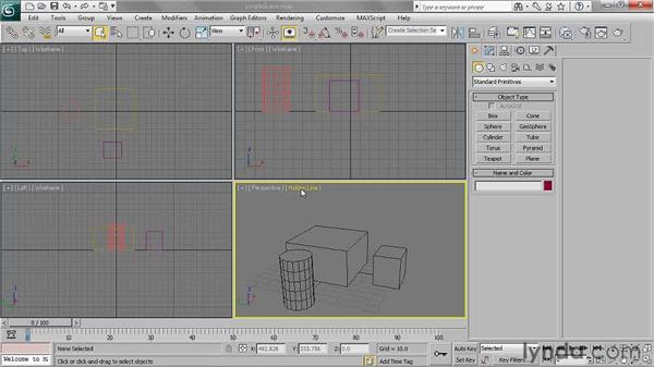 Choosing shading modes: 3ds Max 2011 Essential Training