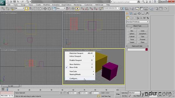 Configuring the viewports: 3ds Max 2011 Essential Training